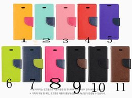 Wholesale Iphone 5c Folio - DHL FREE Mercury Wallet leather PU TPU Hybrid Soft Case Folio Flip Cover for iPhone 4 4s 5 5s SE 5c 6 6s 7 Plus with Package