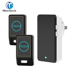Wholesale Android Office - New EU US UK AU Plug Touch Doorbell 2 Touch Transmitter+ 1 Receiver Wireless Waterproof Door Bell 36 Chord Ringtones Doorbell