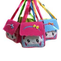 Wholesale Red Cross Doll - Wholesale- Canvas cover cartoon doll Children Bags new fashion handbags kids Messenger bag Shoulder Bag for kindergarten girl Free shipping