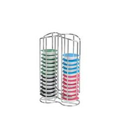 Wholesale Metal Racks Baskets - kitchen accessories 32 Pod Chrome Tassimo Coffee Capsule Holder kitchen organizer Tower Stand Rack Capsule Tassimo