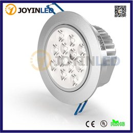 Wholesale 12 led downlight - Wholesale- 10PCS High Power 12*1W LED Downlight Lamp Ceiling Cabinet Bulbs LED Recessed Ceiling Down Lampt + Driver+Free Shipping DHL