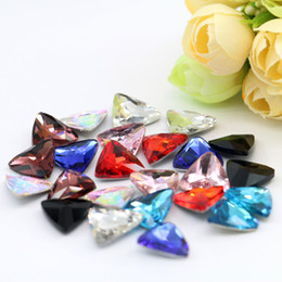Wholesale Rhinestones Pointback - 6x6mm Triangle Pointback Rhinestone Crystal Fancy Stone Gemstone For Decoration 100pcs bag (10 Different Color Available)