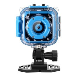 Wholesale Diving Digital Camera - Children Kids Camera Waterproof Digital Video HD 720P Action Sports Camera Camcorder DV for Boys Birthday Holiday Gift Learn Camera Toy 1.77