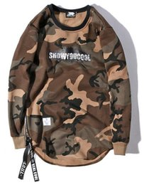 Wholesale Felt Sweater - justin bieber High quality cotton and cashmere sweater in the long section of camouflage I feel like pablo kanye west hoodie Free delivery