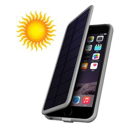 Wholesale Solar Iphone Cases - for iPhone6s 7 3000mAh Solar battery Rechargeable External Battery Charger Case Cover Pack Power Bank for Apple iPhone6 6S 7S