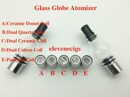 Wholesale Glass Atomizer Clearomizer Tank - High Quality Glass Globe Atomizer Pyrex Glass Tank Wax Herb Vaporizer Clearomizer Lamp Glass Tank with Huge Vapor