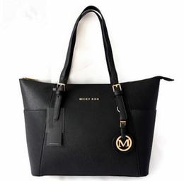 Wholesale Large Black Leather Hobo - Handbag MICKY KEN Large Capacity Luxury Handbags Women Bags Designer Famous Brand Lady Leather DHL Free Shipping 2017 Newest.