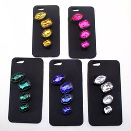 Wholesale Silver Diamond Phone Cases - Noble Glitter Diamond Ring case Bling Rhinestone European style phone cases cover for galaxy S7 S7 EDGE iphone5 iphone6 6S iphone6 plus