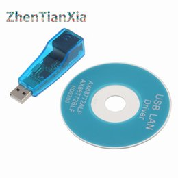 Wholesale Ethernet Lan Converter - Wholesale- USB 2.0 To LAN RJ45 Ethernet Network Card Adapter USB to RJ45 Ethernet Converter For Win7 Win8 Tablet PC Laptop