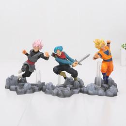 Wholesale Dragon Pvc - 13-15cm Dragon Ball Super Saiyan Son Goku Black Trunks PVC Action Figures Toys soul X soul Dragon Ball Z figure
