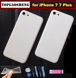 Wholesale Iphone Frame Housing Gold - White Matte Housing for Iphone 7 4.7 Housing White Gold Metal Frame for Iphone 7 Plus housing white