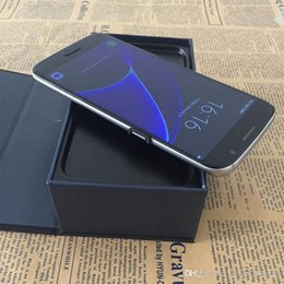 Wholesale Lte Dual Wcdma - Sealed box S7 edge phone curved 5.5inch 1GB+8GB 3G WCDMA Dual Camera Metal Frame MTK6580 Andriod 6.0 show 4G LTE 64G