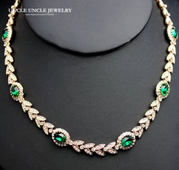 Wholesale Memory Gift Wedding - Grace Style Rose Gold Color Austrian Crystal Erstwhile Memory Retro Design Woman Wedding Bride Necklace Wholesale