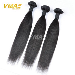 Wholesale Healthy Hair Color Products - 8A Grade Straight Indian Virgin Hair 3 Bundles Lot Free Human Hair Weave Healthy Smooth Cheap Soft Product