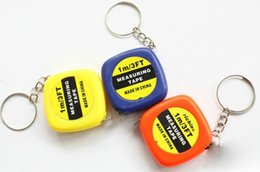 Wholesale Wholesale Measuring Tapes - 150pcs Small tape measure 1 meter portable mini soft tape measure ruler keychain pendant small gifts gift metric inch tape measure