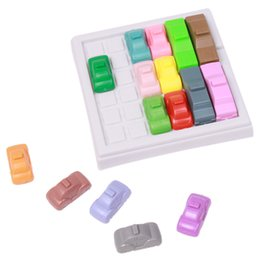 Wholesale Change Slide - Wholesale- 1SET LOT Intelligence Breakout Car Racing Car Huarong can Change to 160 Titles for Children Educational Toys Maze Game MU874352