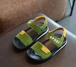 Wholesale Toddlers Leather Sandals - 2017 baby sandals, female children's shoes, summer soft soles, Princess Korean version, lovely children, toddler toddler shoes in Baotou