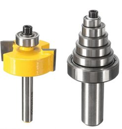 """Wholesale Board Assembly - Durable Rabbet Router Bit with 7 Bearings Set -1 2""""H - 1 4"""" Shank Suitable For solid wood Particle Board Hand Tools"""