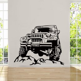 Wholesale Cool Abstract Art - Hot Sale Cool Graphics Offroad Army Cool Boys Bedroom Cod Wall Art Stickers Decals Vinyl Home Room Creative DIY
