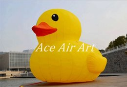 Wholesale Inflatable Yellow Duck - 3m tall Giant and Beautiful yellow Inflatable duck for sale and Advertising on ground Made in China