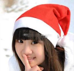 Moda dokunmamış Noel şapkalar Noel şapkalar Noel süslemeleri ucuz şapkalar toptan ücretsiz kargo nereden yuvarlak düğün masa örtüleri tedarikçiler