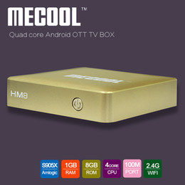 64 bit android tv Coupons - MECOOL HM8 TV Box Android 6.0 Amlogic S905X Quad Core Cortex-A53 up to 2.0GHz 64 bits RAM 1GB ROM 8GB OTA WiFi media player