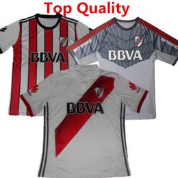 Wholesale River Football - 2017 River Plate Soccer Jersey Sanchez Rodrigo Mora Football Shirt 2018 Batistuta Balanta River Plate Club Argentina Red camisas Top quality