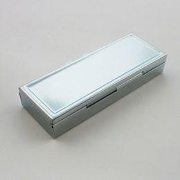 Металлический прямоугольник Серебряный таблетка таблетки коробки держатель выгодный контейнер медицина чехол небольшой чехол 3 ячейки коробка Бесплатная доставка ZA2137 от