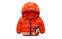 Wholesale Infant Baby Boy Jackets - Baby Girls Boys Cotton Clothes Kids Winter Overcoat Children Thick Coat Children Clothes Outwear Bear Jacket Infant Hooded Jacket For 80-120