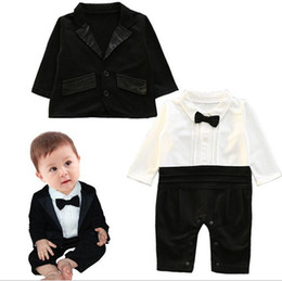 Wholesale Boy Clothings - 2017 New Fashion Autumn Children's Harlan Set=2pcs Baby Clothes 0-3 Year-old Kid clothings cute boy soliid clothing sets