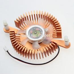 2019 ventilador de disipador de calor para pc Al por mayor- 1 Piezas 12V 2 Pin Agujero de Montaje 80mm PC Gráficos Video VGA Tarjeta Heatsink Cooler Ventilador de Enfriamiento ventilador de disipador de calor para pc baratos