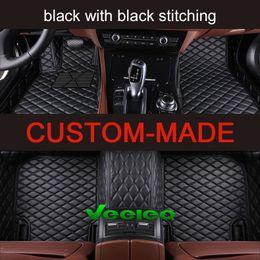 Wholesale Weather Floor Mats - Veeleo+Custom Fit- 6 Colors Leather Car Floor Mats for Nissan Series Car Mats All Weather Waterproof Anti-slip Full Set Carpets Liner