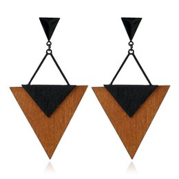 Wholesale Charming Hot Sexy Girls - New Hot Fashion Xmas Sexy triangle Geometry Jewelry Accessories Earrings Pendant Earrings for Women's  children  girl Gift Free Shipping