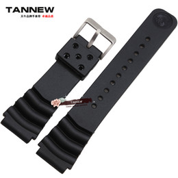 Wholesale Wholesale Canned - Wholesale- Natural rubber waterproof silicone watch band 18mm 20mm 22mm strap canned applicable SKX007