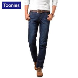 Wholesale Denim Business Casual - Wholesale- 2017 Spring Summer Slim Fit Men's Jeans Plus Size Mens Pants Casual Business Men Jeans Hot Sale Denim Mans Pants Vaqueros Hombre
