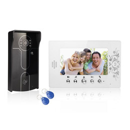 "Wholesale Infrared Digital Security Cameras - XSL-V70A-IDP wired video doorbell 7"" LCD color screens and infrared camera with digital pane for improve the home security"