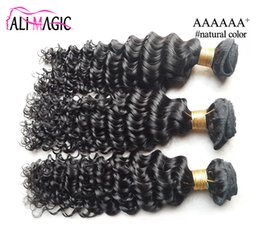 Wholesale Discount Indian Remy Weft - 2017 Chea Remy Human Hair Weave Discount Brazilian Virgin Hair Weft Deep Wave 100g 3Pcs Lot Free Shipping