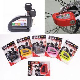 Wholesale Electric Scooters Brakes - Security Protect Motorbike Motorcycle Anti Thief Electric Bike Scooter Wheel Disc Brake Alarm Lock Zinc Alloy Siren Lock MOT_50I