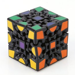 Wholesale Gear Puzzle - Wholesale-3D Cube Puzzle Magic Cube 3 x 3 x 3 Gears Rotate Puzzle Sticker Adults Child's Educational Toy Cube NQ838759