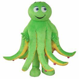 2019 traje de mascote de polvo Novo Estilo Octopus Costume Mascot Costume Holiday Party Dress Adult Frete Grátis traje de mascote de polvo barato