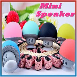 Wholesale Usb Audio Wireless Receiver - Mushroom Mini Wireless Bluetooth Speaker Hands Free Sucker Cup Audio Receiver Music Stereo Subwoofer USB For Android IOS PC