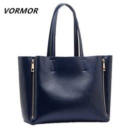 Wholesale Natural Composites - Wholesale-VORMOR 100% Natural Genuine leather Handbags fashion shopping women bag Large leather shoulder bag Messenger Business female bag