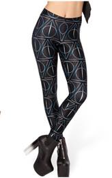 Wholesale East Knitting Fashion - Wholesale- EAST KNITTING X-134 2017 New Women's Leggings skinny Pants Women Deathly Hallows Leggings