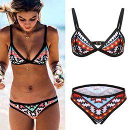 Wholesale Swimwear Bath Sexy - 2017 swimsuits for women Sexy Fashion Beachwear Swimwear Padded Push-Up Bra Bikini Set Bath Suit Summer Beach Clothing