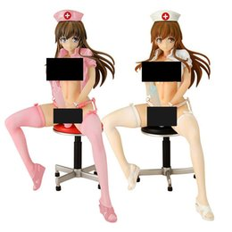 Wholesale Japanese Sexy Figures - Japanese Anime ER Nurse Kotone Sexy Adult Doll White Pink Color Ver. PVC Action Figure Collectible Model Toy 18cm KT3824