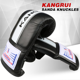 Wholesale Funny Displays - Kh302 Pu Leather 10Oz Adult Male Fighting Gloves Muay Thai Boxe Gloves Punching Bag Glove Display Purpose Funny Boxing Gloves Gear