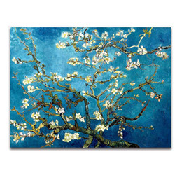 Wholesale Van Gogh Oil Canvas - Paintings Blossoming Almond Tree By Van Gogh Oil Painting Printed On Canvas Home Art Decor