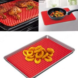 Wholesale Bbq Sizes - Large Size Baking Mat 40x30cm Pan Nonstick Silicone Mould Cooking Mat Oven Tray Chef Grill Outdoor Barbecue BBQ Tool Barbeque Pad Bake