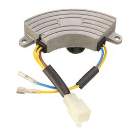 Wholesale Avr Generator Regulator - 3500 Watt Generator AVR Automatic Voltage Regulator Rectifier AVR 250V 220uF Aluminum Base cover 6 wires