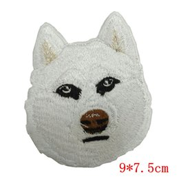 Wholesale Wholesale Embroidered Dog Patches - Siberian Husky Dog Breed Embroidered Applique Patch Animals,IRON ON OR SEW